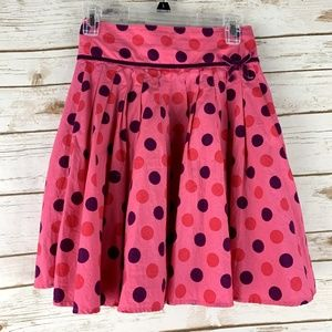 Mini Boden skirt size 9- 10 Y pink with dots